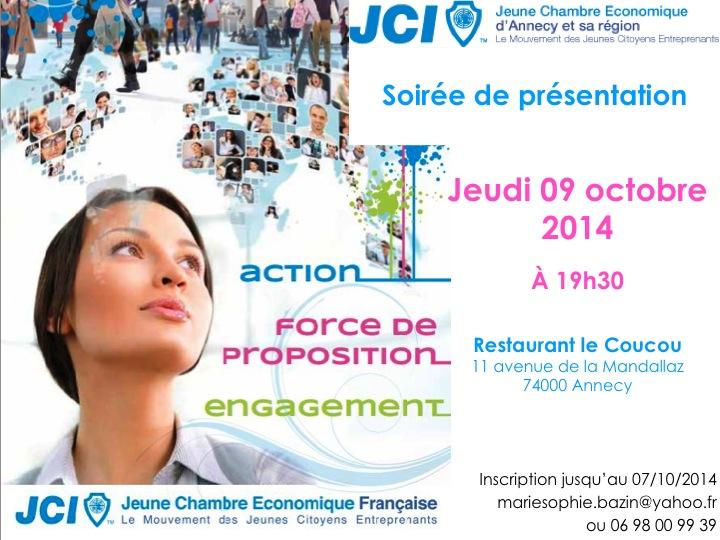 Invitation soirée du 9 octobre 2014
